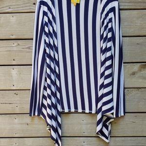 Liz Lange Gorgeous Blue And White Cardigan 😍